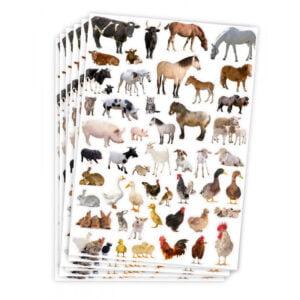 bondgård djur klistermärken