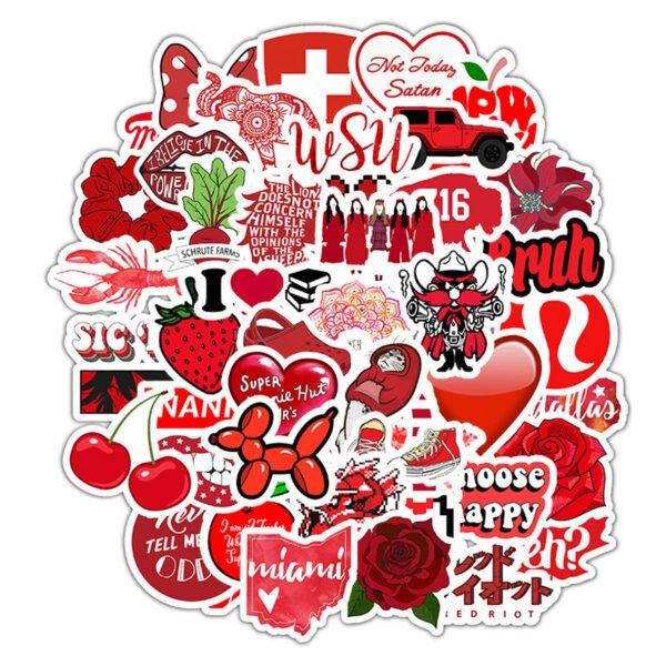 röda klistermärken - kul blandning