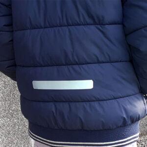 självhäftande reflexband på jacka - reflex för kläder