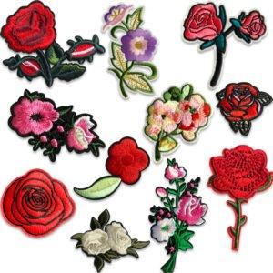 blommor tygmärken