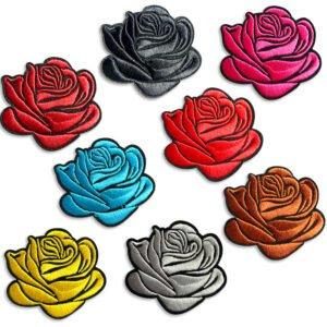 Broderade rosor - flerpack - flera färger