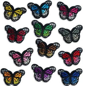 Fjärilspaket tygmärken - broderade fjärilar