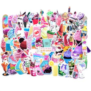 cupcakes milkshakes glassar klistermärken