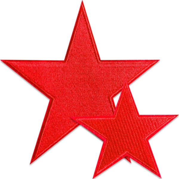 röda stjärnor tygmärken