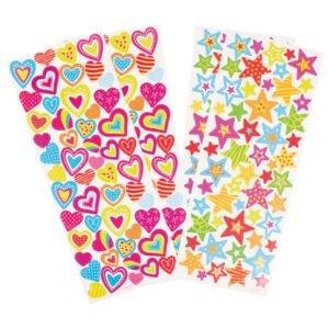 stickers hjärtan stjärnor
