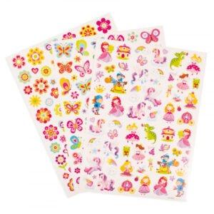 Stickers för barn - storpack - 221 stickers sagor enhörningar växter mm