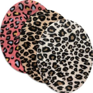 Oval armbågslapp - leopard mönster