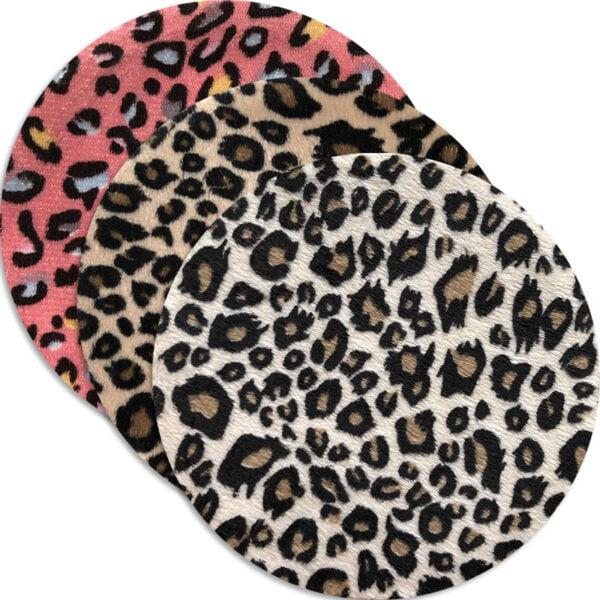 plysch leopard laglapp - stryks på