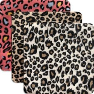 Leopardmönstrad laglapp - flera färger - stryka-på