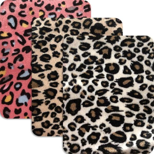 Leopardmönstrad laglapp - rektangulär form - 3 färger