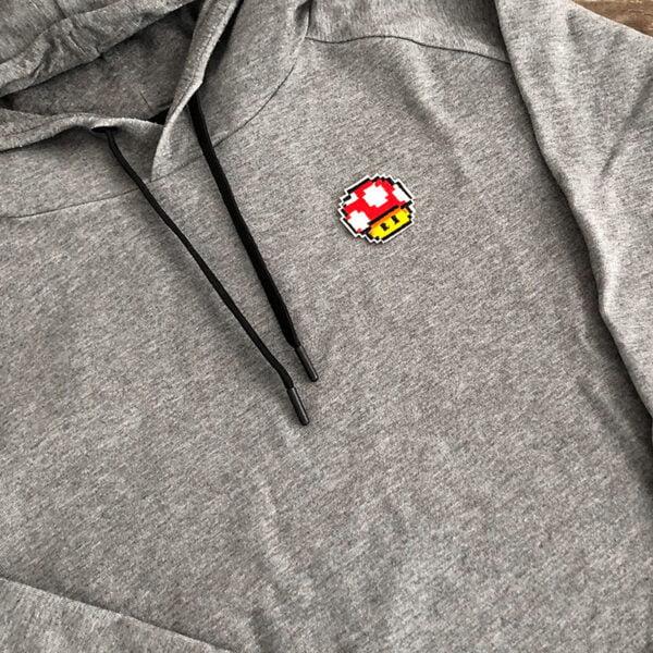 pixel toadsvamp super mario tygmärke tröja