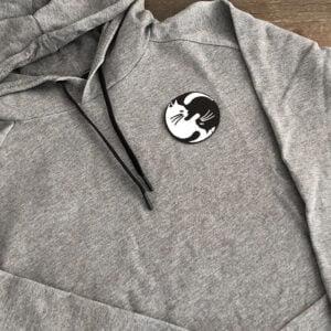 katt yin yang tröja
