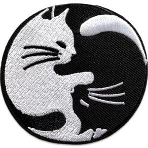 katt symbol tygmärke - yin yang