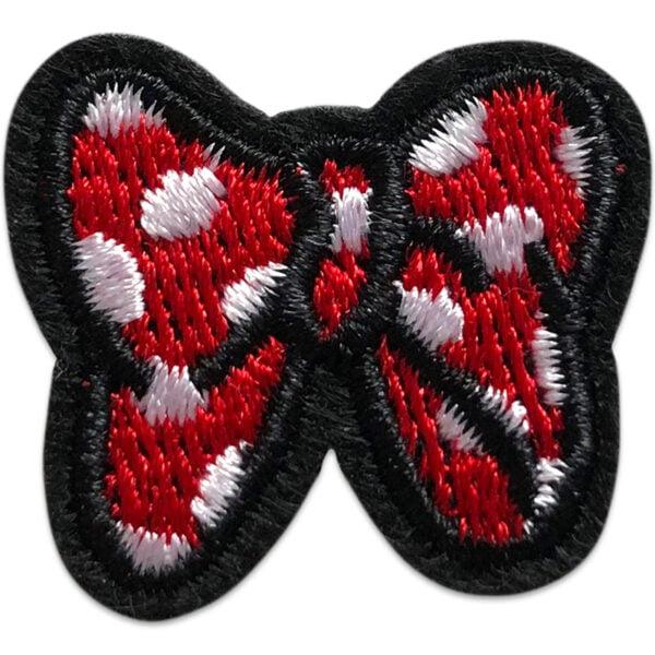 rosett tygmärke polka - röd med vita prickar