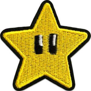 super star super mario tygmärke