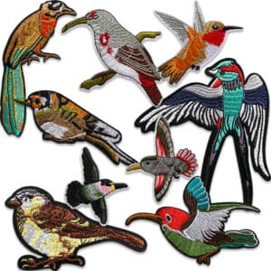 fåglar tygmärken