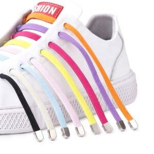 elastiska skosnören - fler färger - dubbar i metall ingår