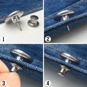Instruktion flexibla jeansknappar