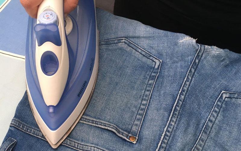 stryka på textillim