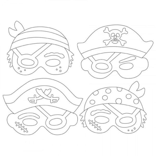 pappersmasker pirater