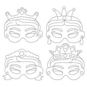 pappersmask prinsessor