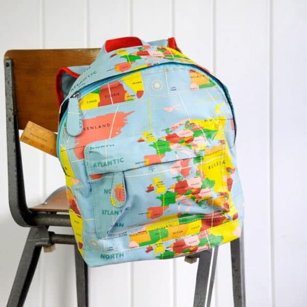 ryggsäck för barn världskarta