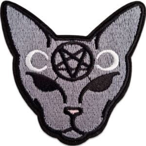 katt pentagram tygmärke