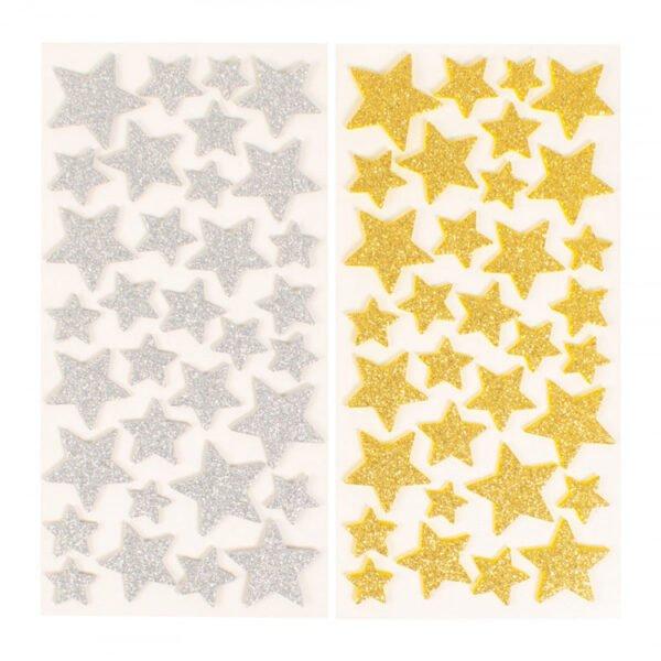 glittriga stjärnor klistermärken