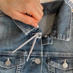 reflexsnöre på jeansjacka