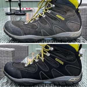 Rengjorda sneakers med flera material
