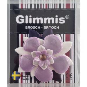reflexbrosch lila förpackning