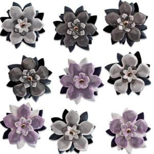 reflexbroscher blommor i olika färger