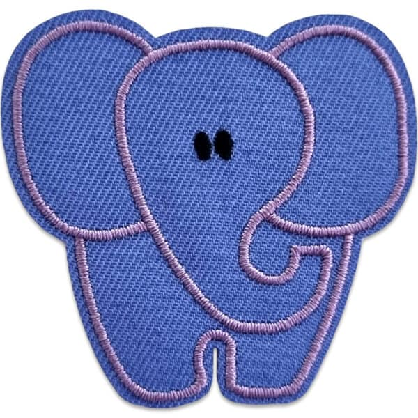 tygmärke lila elefant