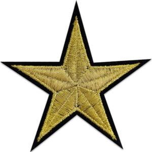 tygmärke guldstjärna