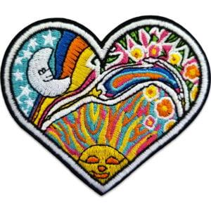 Tygmärke hippie hjärta