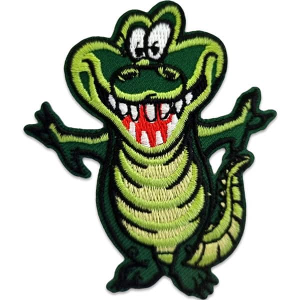 Glad krokodil - tygmärke