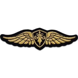 tygmärke militär emblem vingar