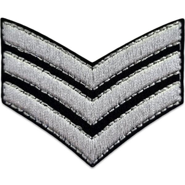 tygmärke militär silver