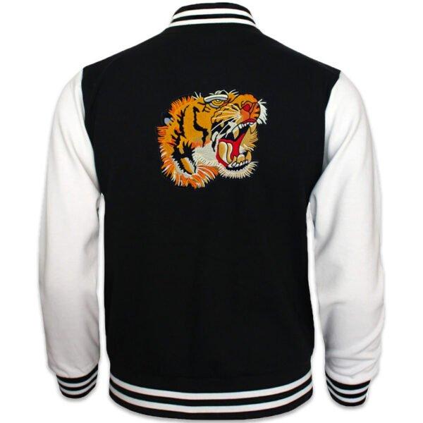 stort tygmärke tigerhuvud på jacka