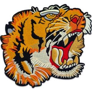 Stort tigerhuvud - tygmärke