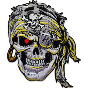 tygmärke dödskalle pirat