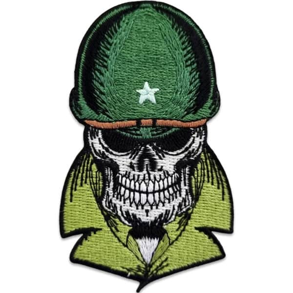 tygmärke dödskalle soldat