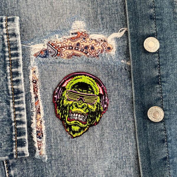 tygmärke gorilla musik kläder