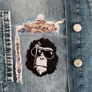 tygmärke cool schimpans kläder