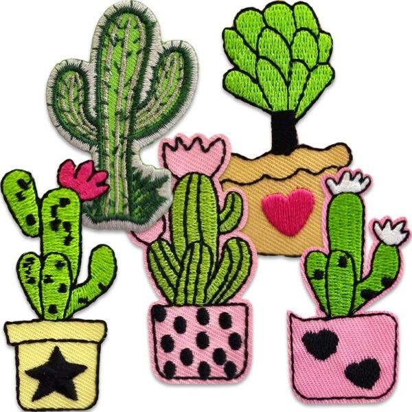 tygmärken kaktusar i kruka