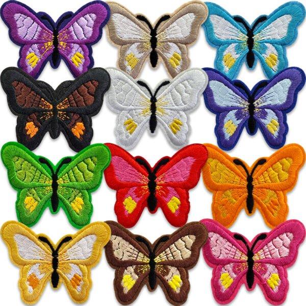 tygmärken sommarfjärilar - stryka på